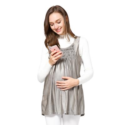 婧麒防輻射服孕婦裝正品孕婦防輻射衣服連上裙銀纖維電腦圍裙四季款jc8211