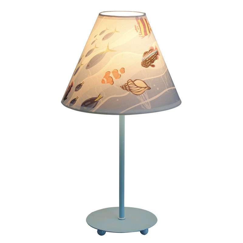 儿童台灯 卧室 现代 简约 儿童房 灯具卡通布艺台灯 海螺台灯图片