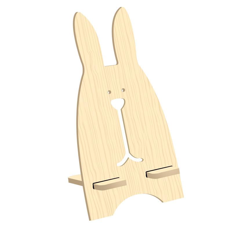 哈马 时尚创意可爱越狱兔手机支架 平板电脑支架 木质手机支架 托架