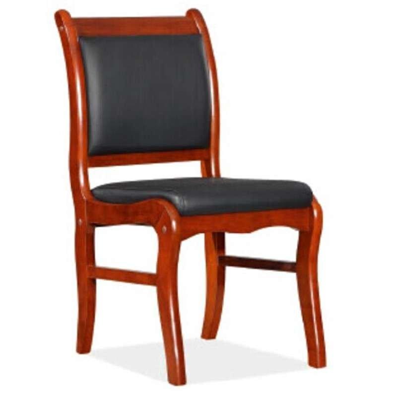 好环境家具实木皮会议椅 办公椅 实木皮无扶手固定椅子培训椅洽谈椅