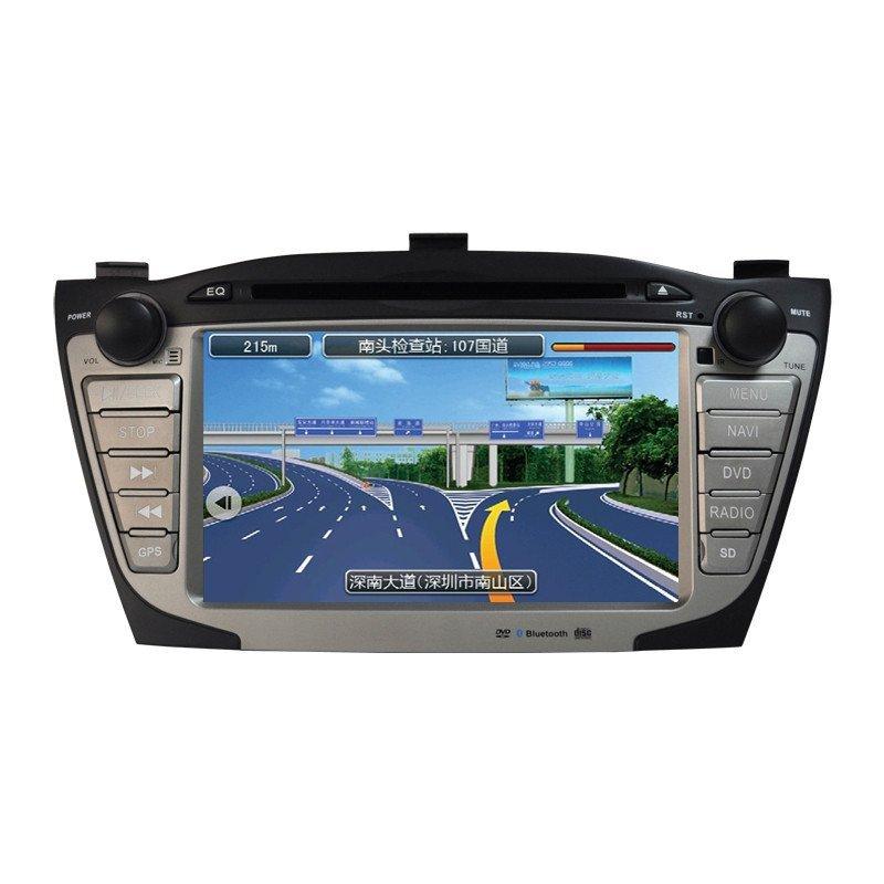 东影现代导航仪现代ix35导航仪车机专车专用dvd 现代倒车影像导航仪