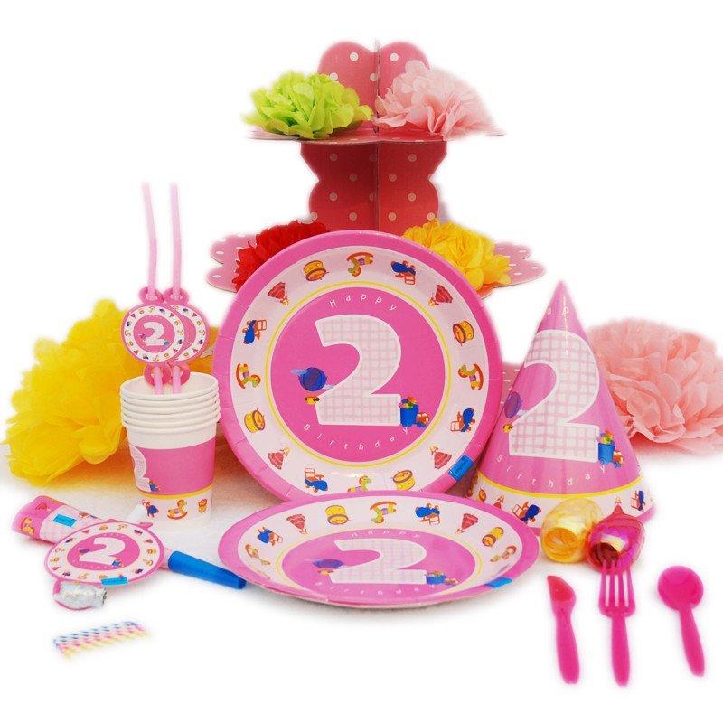 孩派 生日派對用品 兒童生日聚會用品 二歲女孩主題系列