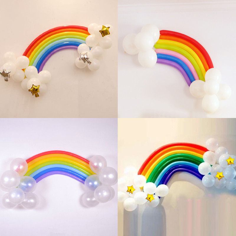 魔术气球造型彩虹