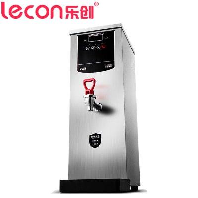 樂創電器旗艦店(lecon) 35升開水機 自動商用電熱步進式逐層進水開水器 開水桶保溫 即熱奶茶店飲水機