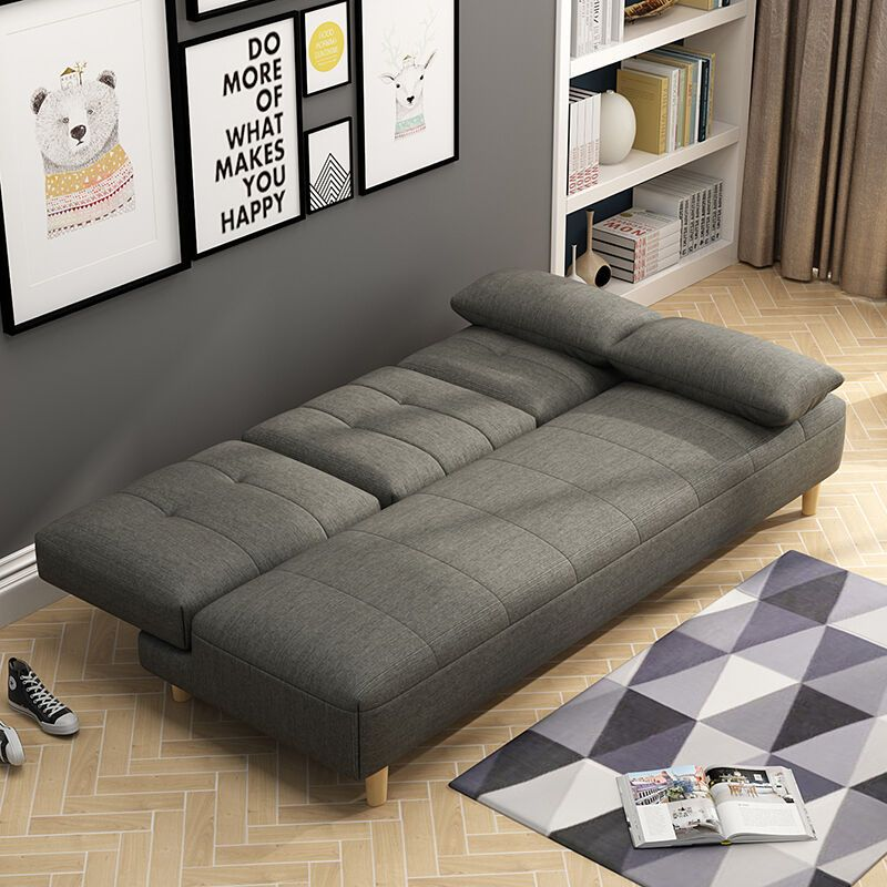 择木宜居 多功能折叠沙发床 实木沙发床懒人沙发床1.9米客厅家具