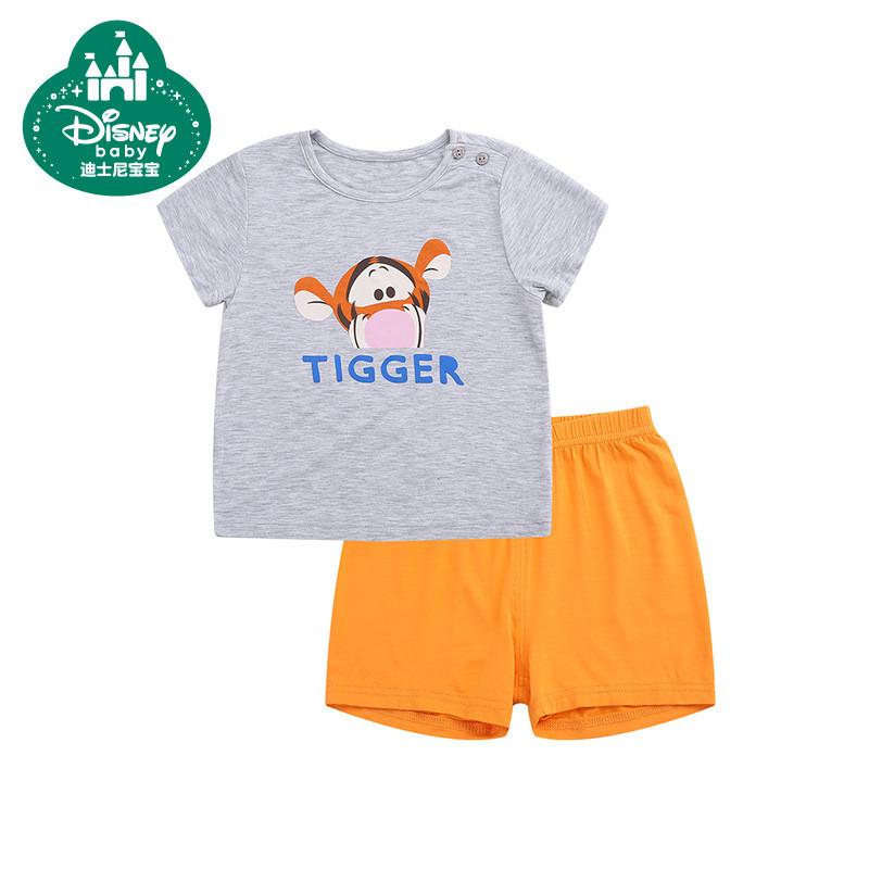 迪士尼宝宝童装2017新款夏季衣服宝宝短裤套