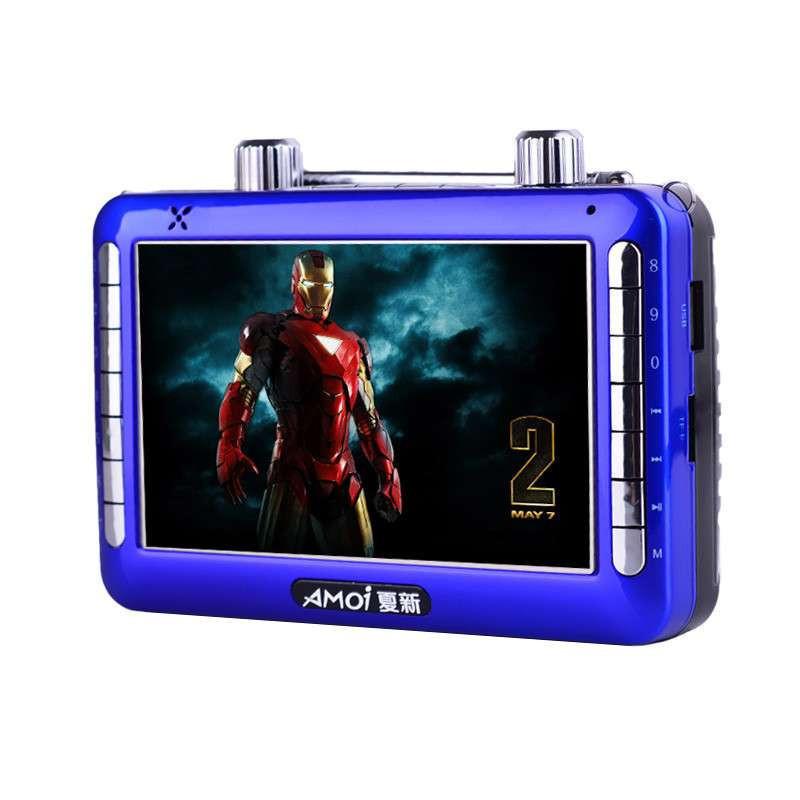 夏新v101 便携高清视频播放器 多功能老人看戏机 广场