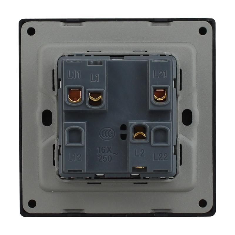 a8-002/2二开开关插座 双开电源开关墙面插座单联/双联墙壁开关插座