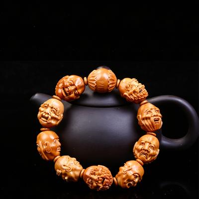 橄榄核雕手串核雕刻十八罗汉手串橄榄胡雕18罗汉手串手链橄榄手串