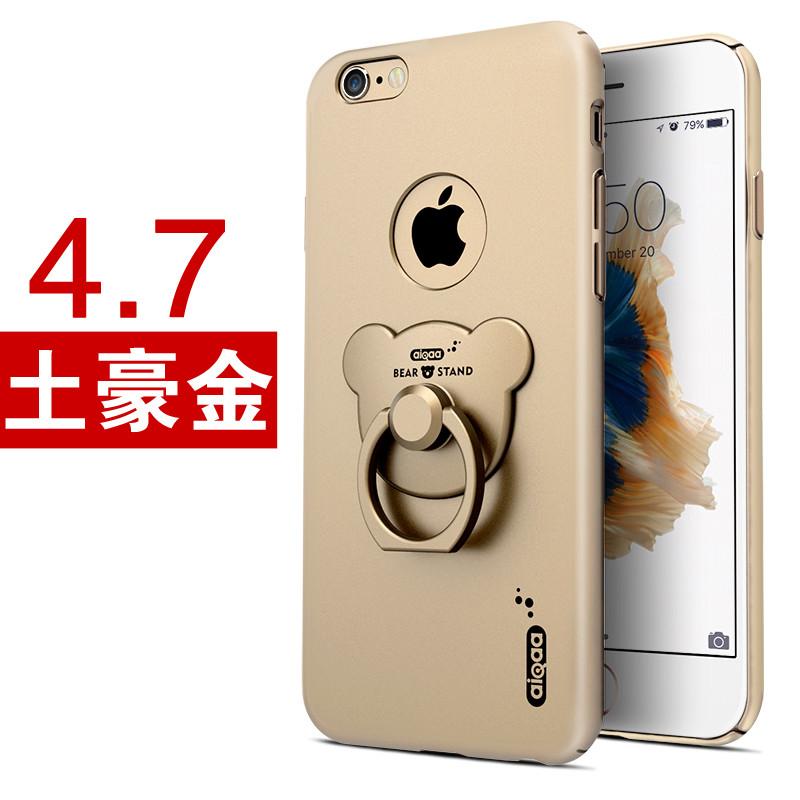 iphone6手机壳六粉色苹果6plus硬壳女新款6s卡通可爱小熊指环支架