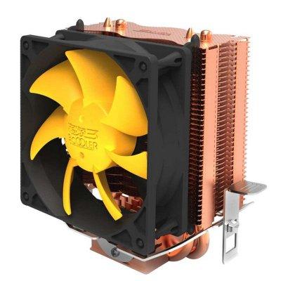 超頻三(PCCOOLER) 黃海mini S83 塔式 CPU散熱器 AMD INTEL 多平臺雙熱管 8cm風扇