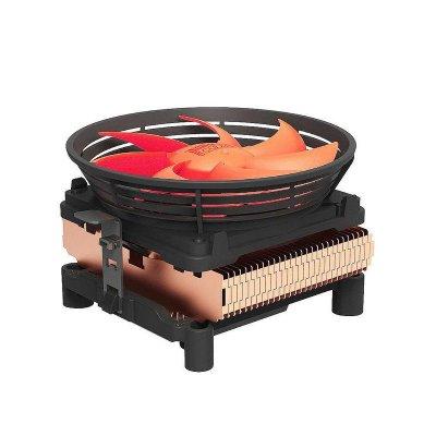 超頻三(PCCOOLER) Q100M CPU散熱器 intel AMD多平臺通用 10CM靜音大風扇