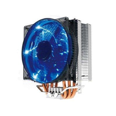超頻三(PCCOOLER) 東海X4 多平臺 CPU散熱器 四熱管 藍光LED發光風扇 散熱器