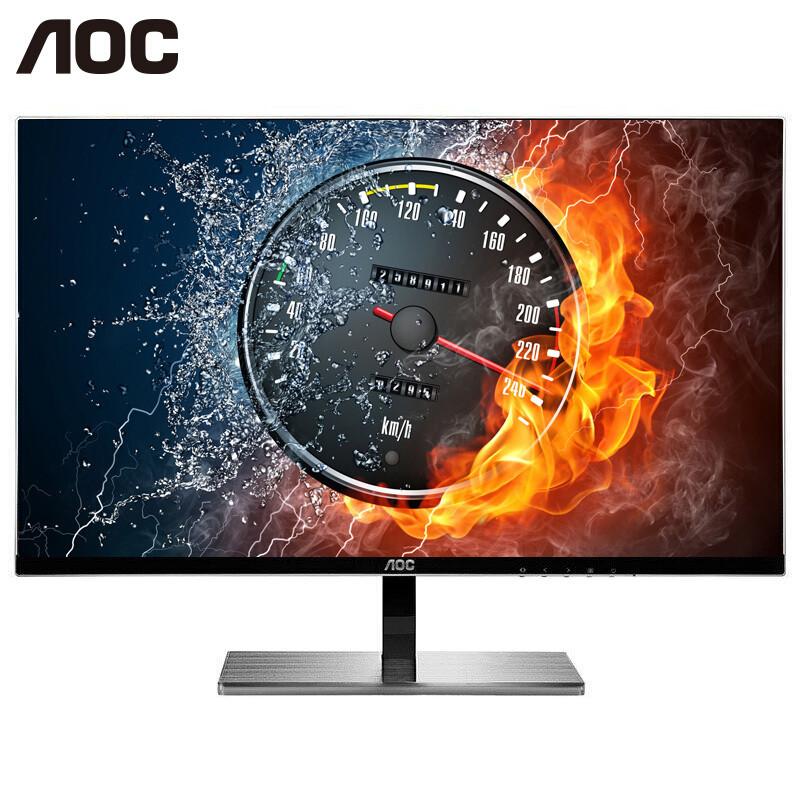 5英寸ips 广视角窄边框低闪屏 液晶显示器 (黑色)