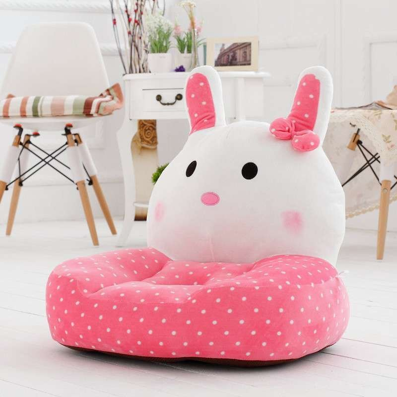 绿盒子 波点萌兔儿童沙发 可爱宝宝小沙发孩子礼物 卡通布艺毛绒沙发