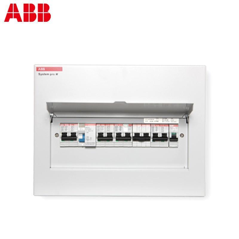 abb 强电配电箱/暗装/金属面盖/13回路空气开关箱 acm
