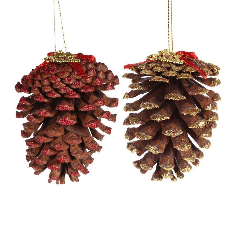仕彩 圣诞装饰品 圣诞用品 超大松果挂件 圣诞树挂件