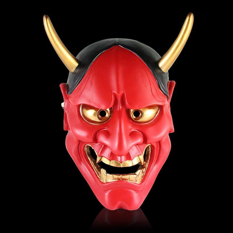仕彩 珍藏版电影主题面具 日本鬼首般若面具 铜色版精品般若面具 树脂