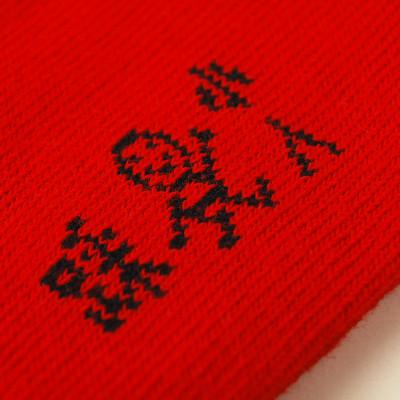4双礼盒装 刺绣红袜子女本命年结婚喜袜大红色情侣亲子踩小人纯棉男鸡