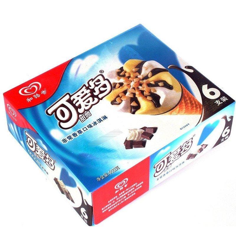 可爱多甜筒香草冰淇淋雪糕 5支起拍冻品冰棍满80元起3