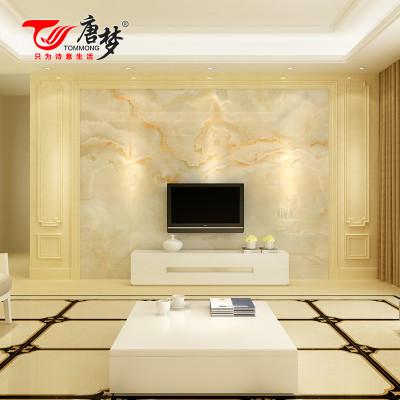 唐梦欧式客厅电视瓷砖背景墙边框线条仿大理石罗马柱背景墙护墙板