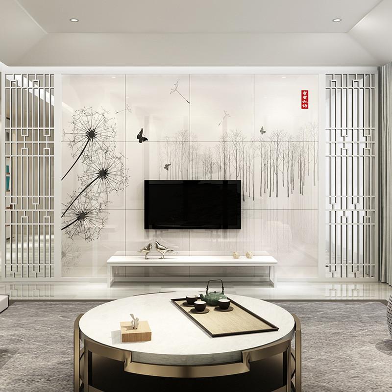 唐梦 简约客厅电视机背景墙瓷砖 陶瓷影视背景墙艺术画 蜜蜜思语