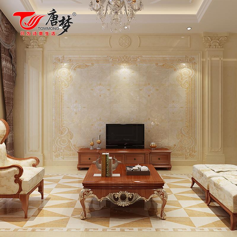 唐梦 瓷砖背景墙 欧式客厅仿大理石 微晶石3d电视背景