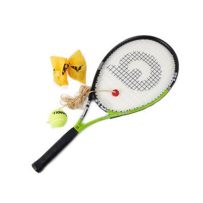 強力 碳鋁一體成型網球拍 初學單人訓練網球拍 學生單拍 附網球+回彈器 628B