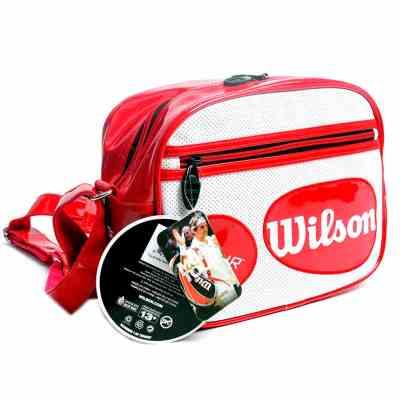 威爾勝Wilson網球包 WRZ844289 迷你背包 掛包單肩背PU挎包