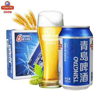 【恒德莱】青岛(tsingtao)啤酒青醇小罐330ml*24听 整箱装 线下实体
