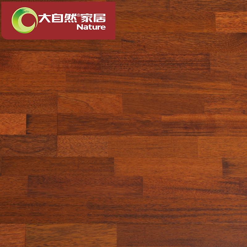 大自然多层实木复合地板15mm 印茄三层环保木地板厂家