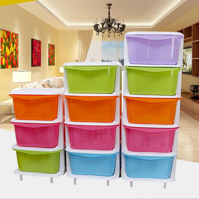 抽屉式收纳柜 塑料儿童卧室储物柜 整理柜子抽屉柜五层