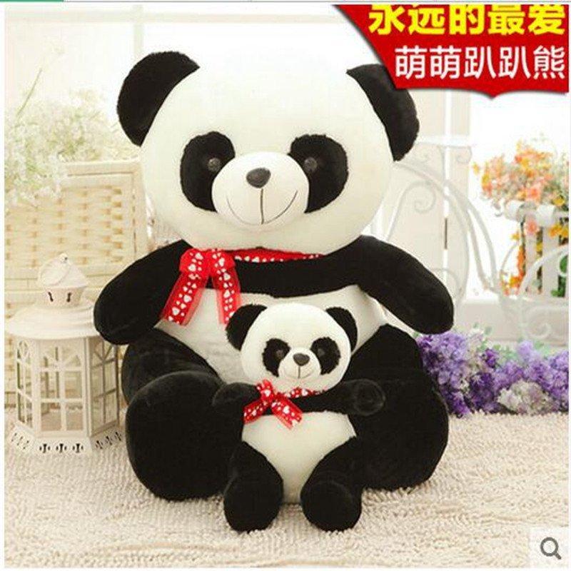 毛绒玩具趴趴熊大号抱枕布娃娃熊可爱熊猫公仔玩偶生日礼物送女生