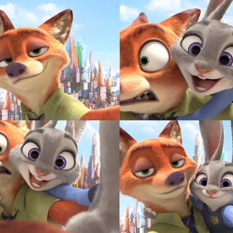 悦达 正版迪士尼疯狂动物城兔子朱迪狐狸尼克毛绒玩具