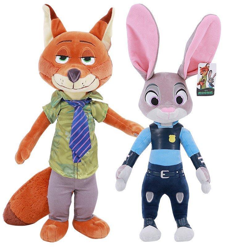 悦达 正版疯狂动物城公仔兔子朱迪狐狸尼克毛绒玩具布