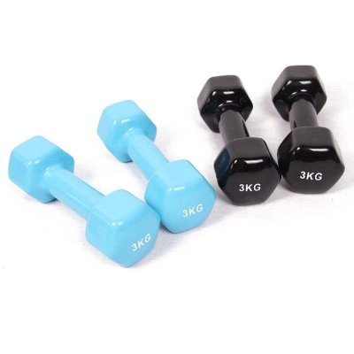 骐骏 高档六角浸塑哑铃 男士女士家用运动健身器材 多种规格可选(单只出售)