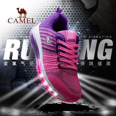 CAMEL駱駝戶外運動跑鞋 情侶款男女緩震防滑運動鞋氣墊跑步鞋