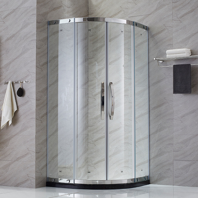 简易淋浴房家用弧扇形