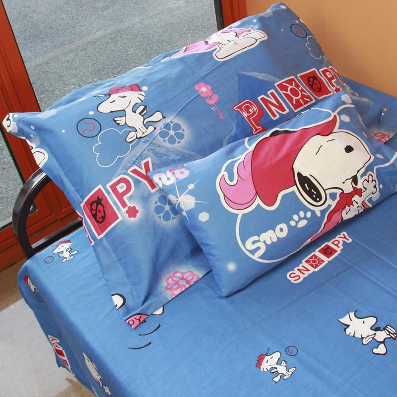 儿童全棉卡通三件套 精梳全棉单人床尺寸 可爱史努比snoopy 买一送一