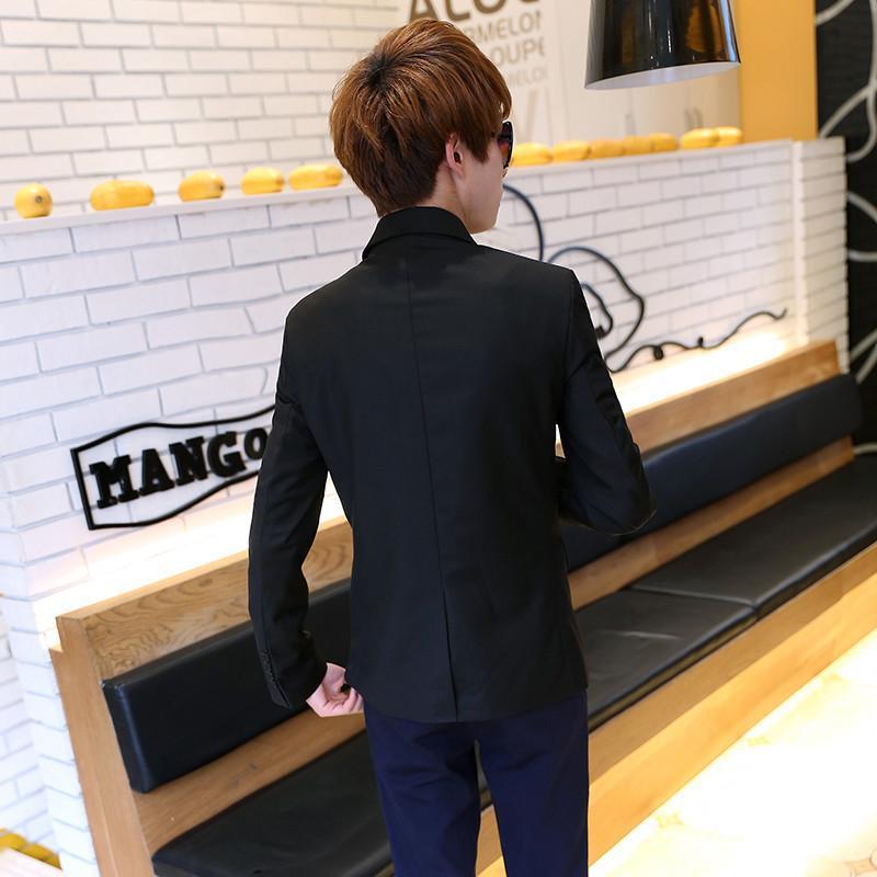 森雷司 2015春季新款男士小西装 韩版修身一粒扣后背开叉商务休闲男西