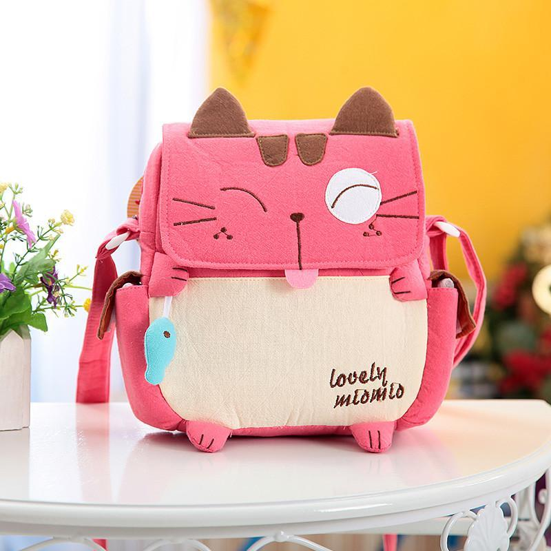 韩版布艺幼儿园棉可爱卡通儿童包包斜挎包女学生小包