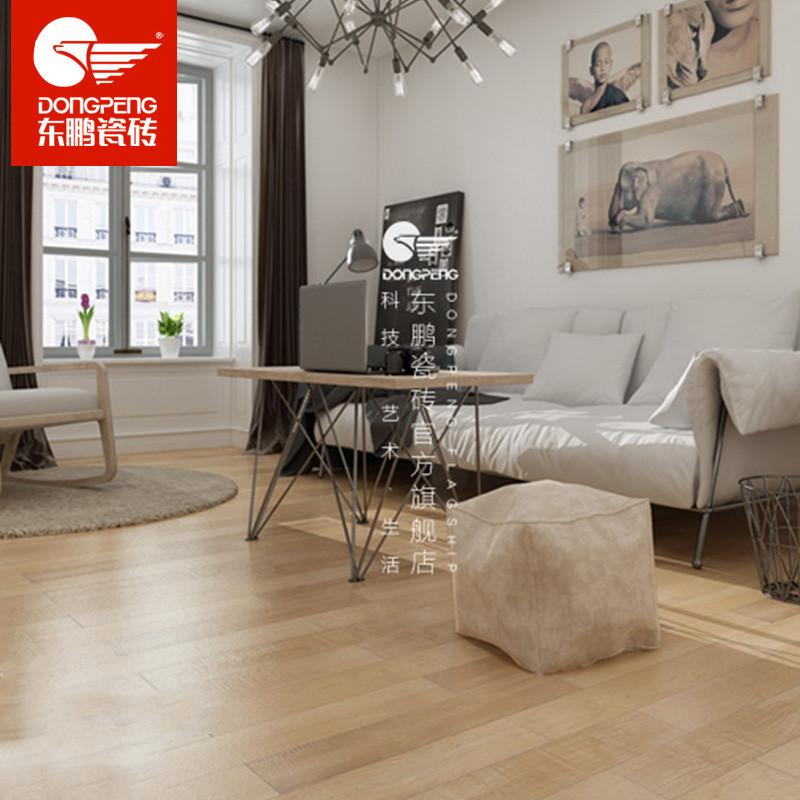 东鹏瓷砖 木纹仿古瓷砖 客厅卧室瓷木地板砖 白桦木