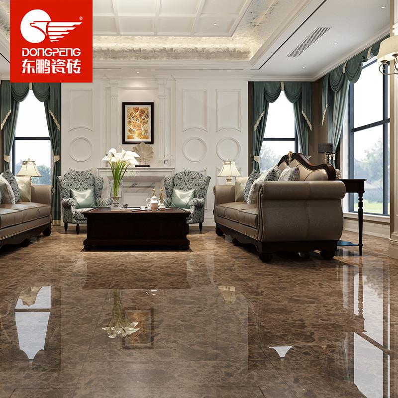 东鹏瓷砖 800 800客厅微晶瓷地板砖 配套墙砖 电视背景墙 深啡网