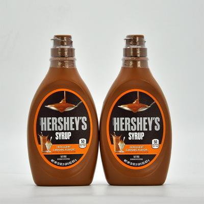 美国原装HERSHEY'S/好时焦糖味糖浆焦糖酱 花式咖啡 623gX2瓶