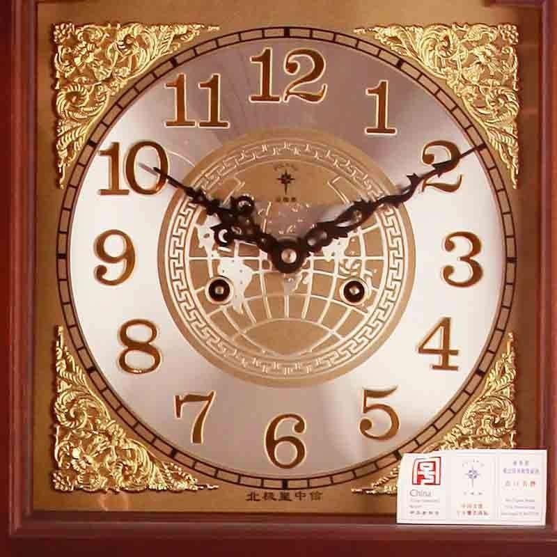 北极星实木落地钟实木机械钟高档欧式复古家具装饰钟表立钟mg9928