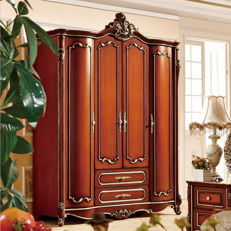 欧施洛 衣柜实木衣柜欧式衣柜美式古典衣柜定制衣柜四门衣柜大衣柜