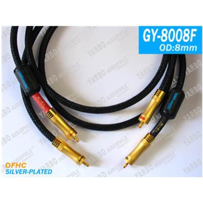 雅堡(YARBO) GY-8008F大晶體鍍銀信號線 音頻線1米