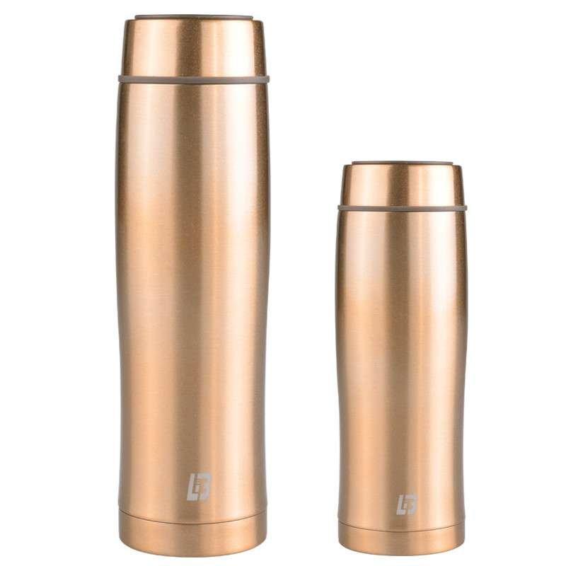 力巴铁(lb) 不锈钢真空水杯 美人鱼保温杯 160ml+260ml 组合装