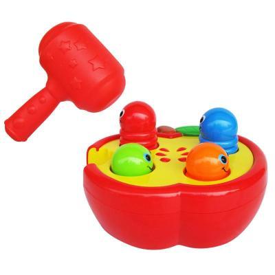 迪孚 敲擊果蟲 嬰兒敲敲樂玩具 寶寶敲擊玩具 打地鼠玩具益智玩具