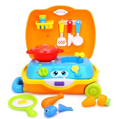 汇乐旅行箱工具箱男孩女孩玩具套装 儿童过家家玩具 小厨师旅行箱